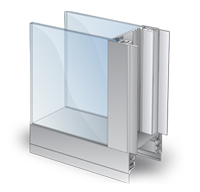 Double Flush Cleanroom Window